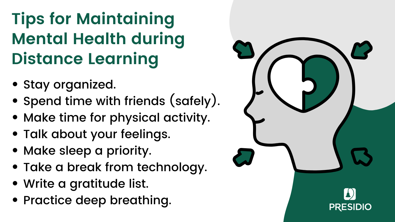 Mental Health Tips for Distance Learning
