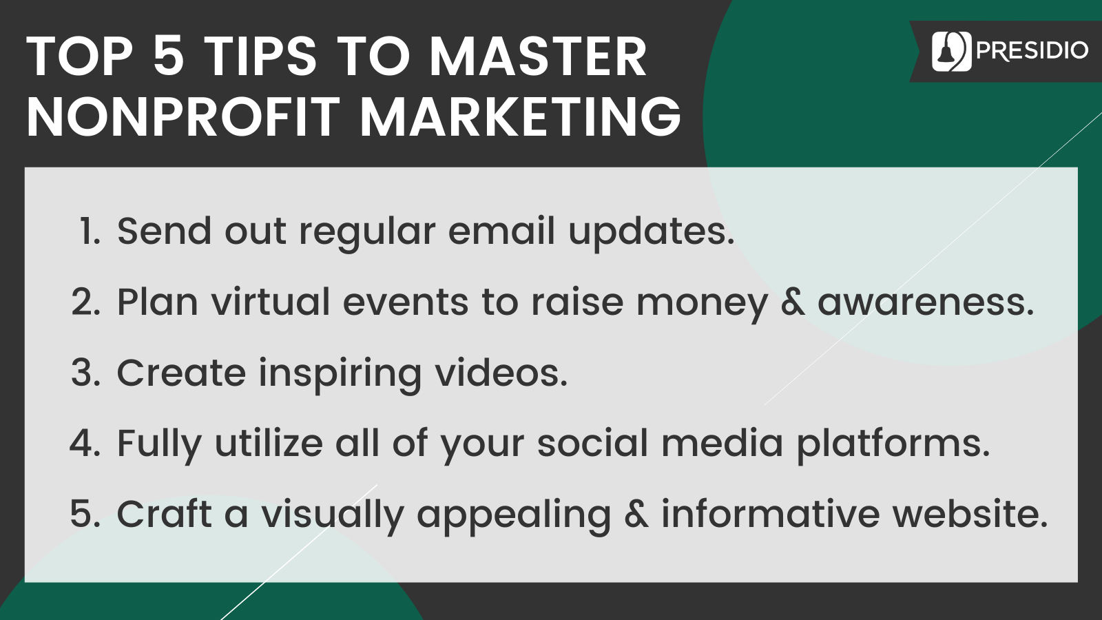 Top 5 Tips for Mastering Nonprofit Marketing